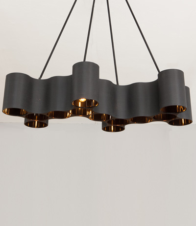 I Like The Mix Of Matte Black And Shiny Copper In This Chandelier By Ted  Abramczyk, Available At Ralph Pucci Design Inspirations